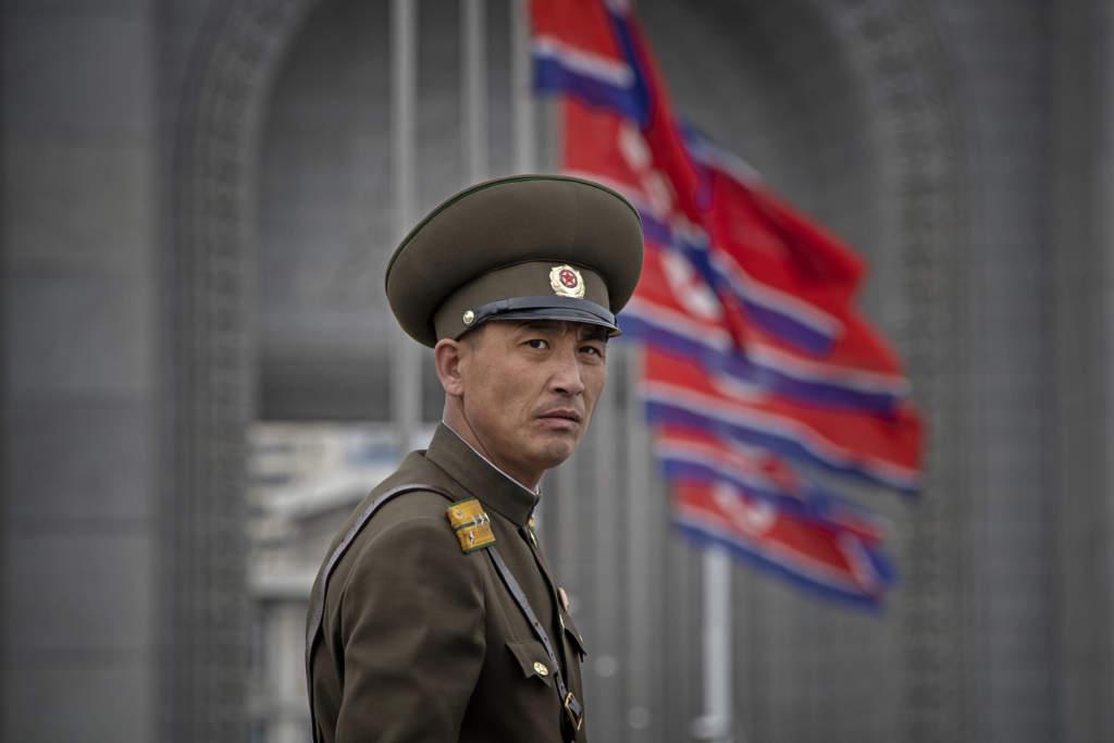 Nordkorea. (DPRK) Pyongyang. Bilder från marathon, inifrån arenan och på stan.